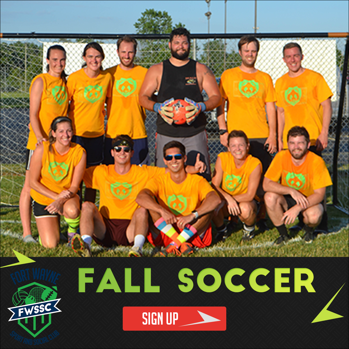 fort wayne sport and social coed adult soccer league